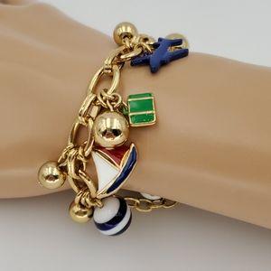 Talbots Nautical Beach Vacation Charm Bracelet